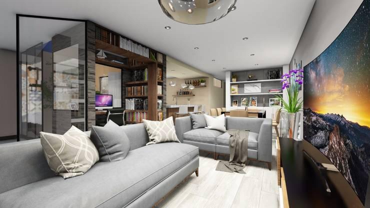 Sala: Salas / recibidores de estilo  por Minkarq. Arquitectura y construcción