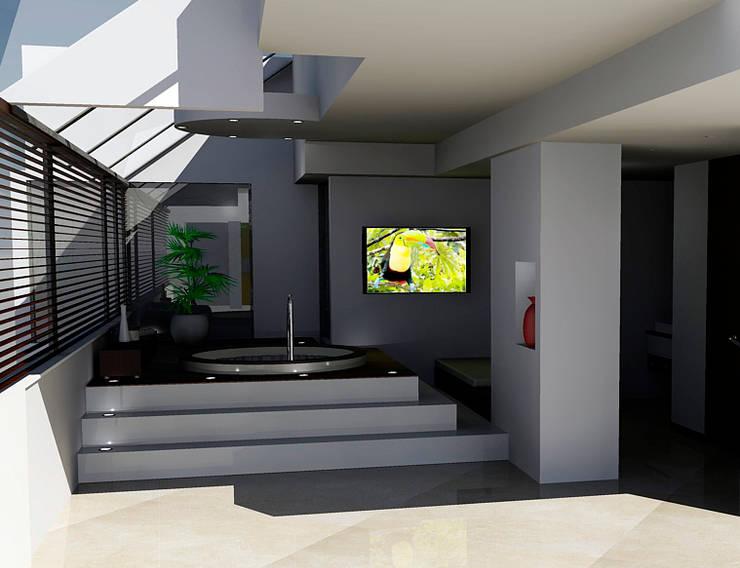 Jacuzzi:  de estilo  por Omar Interior Designer  Empresa de  Diseño Interior, remodelacion, Cocinas integrales, Decoración
