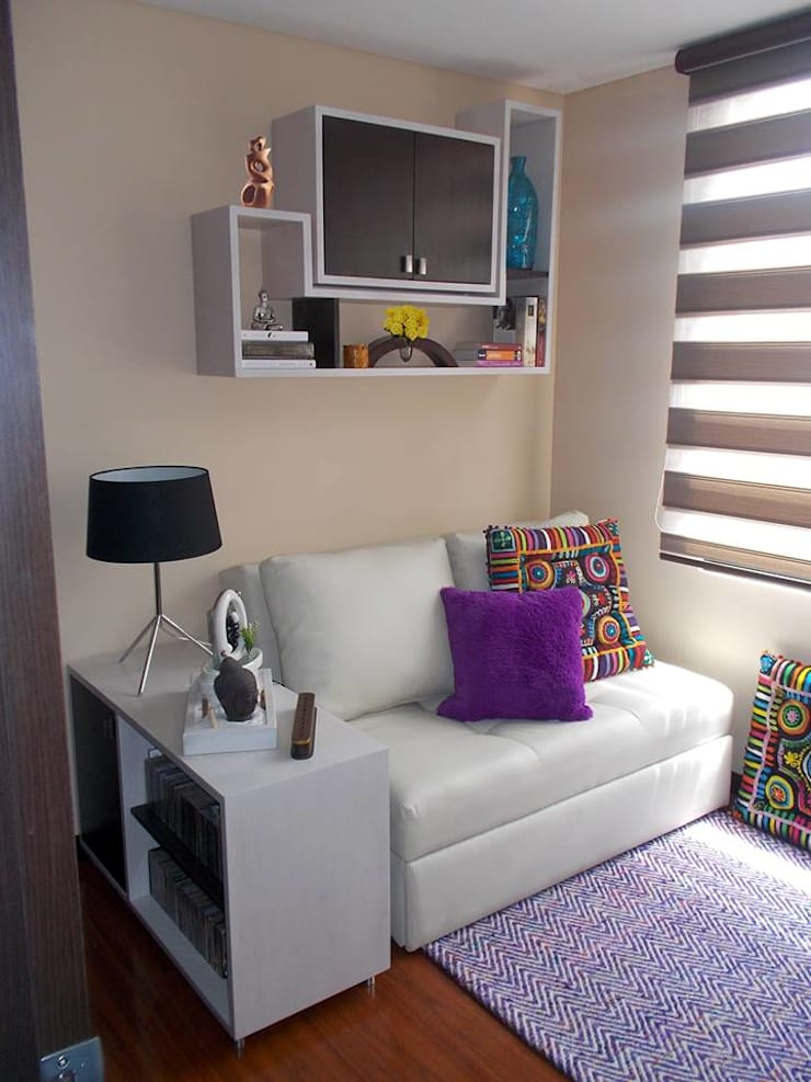 alcoba huespedes:  de estilo  por Omar Interior Designer  Empresa de  Diseño Interior, remodelacion, Cocinas integrales, Decoración
