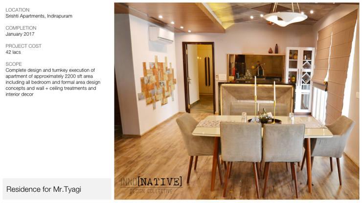 Apartment | Indirapuram:  Living room by Inno[NATIVE] Design Collective,Modern
