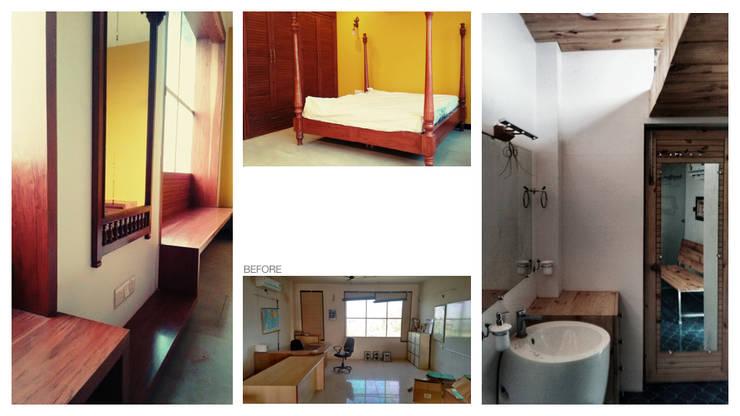 Apartment + Terrace Garden | Noida: mediterranean Bedroom by Inno[NATIVE] Design Collective
