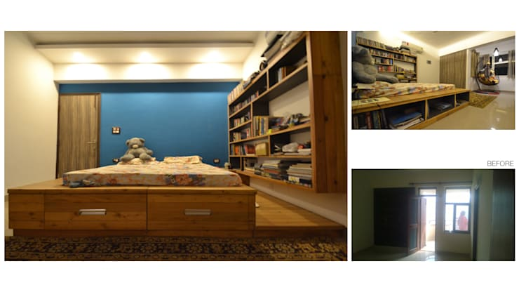 Apartment | Greater Noida:  Bedroom by Inno[NATIVE] Design Collective,Modern
