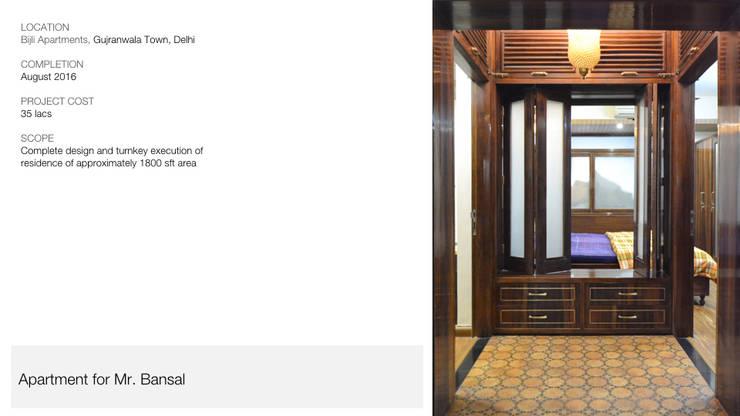 Apartment | Delhi:  Corridor & hallway by Inno[NATIVE] Design Collective,Classic