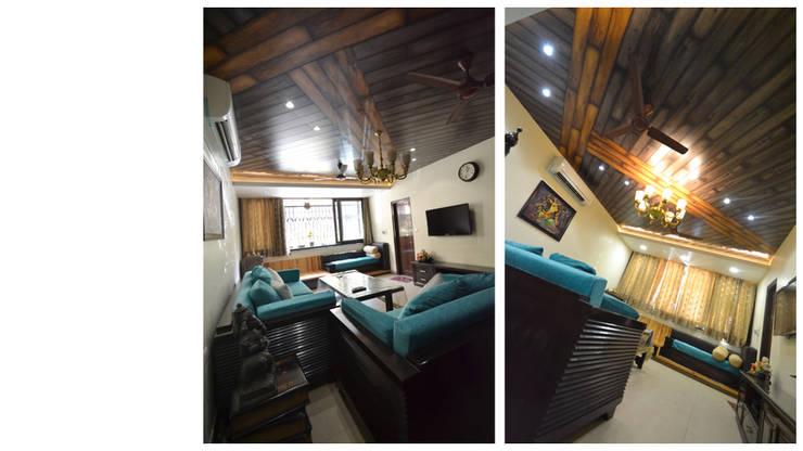 Apartment | Delhi:  Living room by Inno[NATIVE] Design Collective,Classic