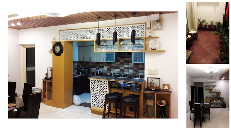 Apartment | Greater Noida:  Kitchen by Inno[NATIVE] Design Collective,Modern