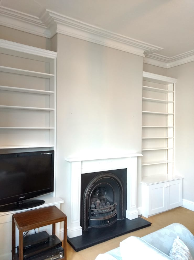 modern Living room by Polly Millard, Interior Decorater