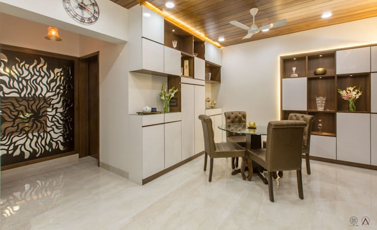 Apartment for Mr & Mrs Merchants, Mazgaon:  Living room by Design Ka:Tha