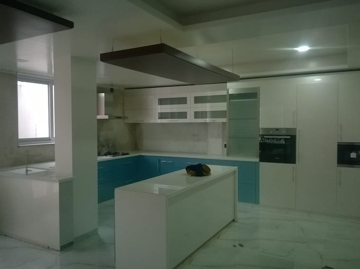 Proposed Interior work for Mr. Agawne.:  Kitchen by Space Alchemists,Modern