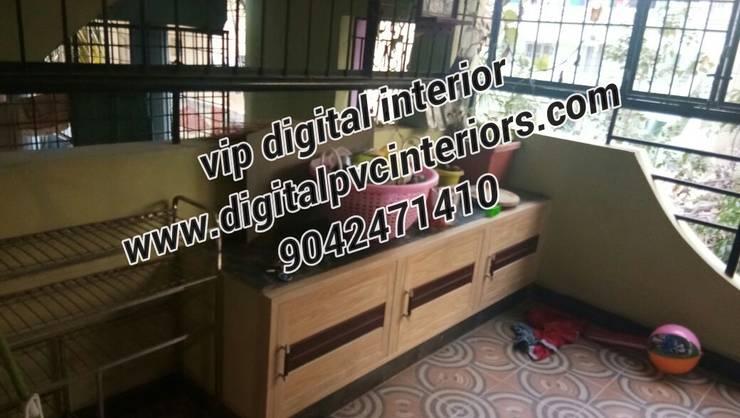 pvc interior in electronic city bangalore: modern  by vip digital interior in bangalore,Modern Wood-Plastic Composite