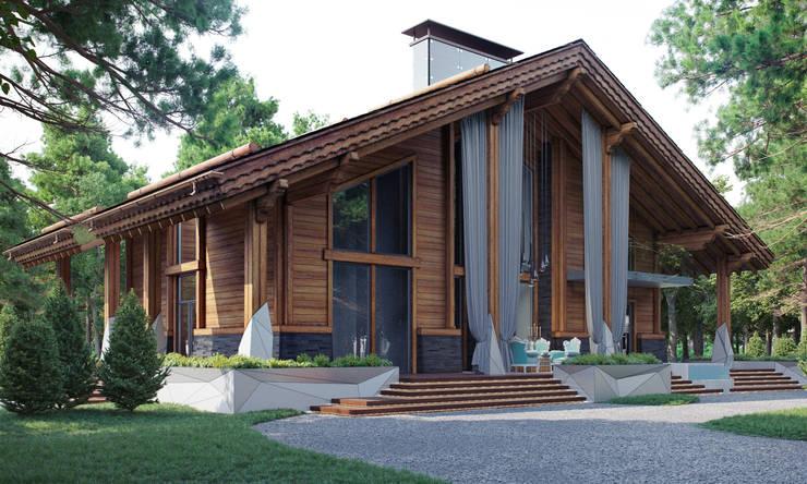 Частный дом в стиле шале: Дома в . Автор – Архитектурное бюро 'Шумливый и Партнеры'