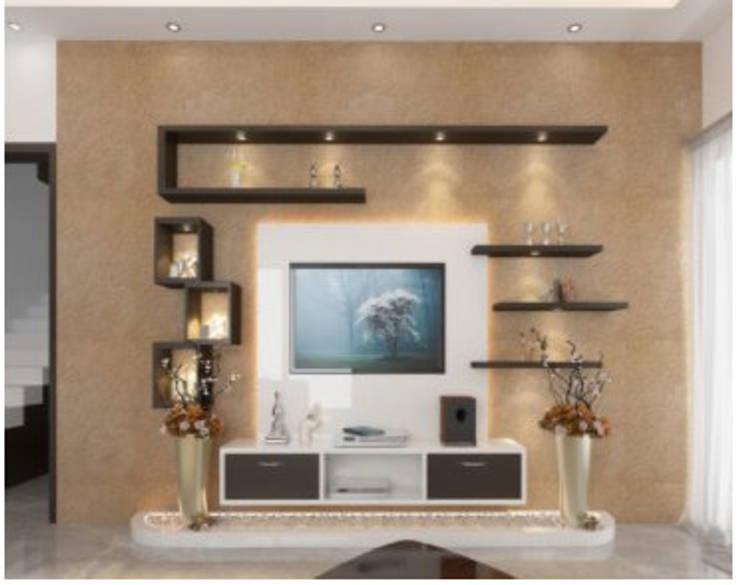 2BHK Tv unit: classic Living room by Xultant Interiors