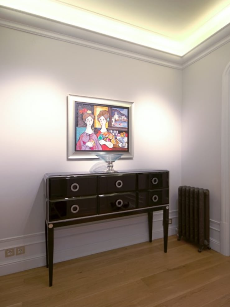Living room by ETNA STUDIO , Modern Wood Wood effect