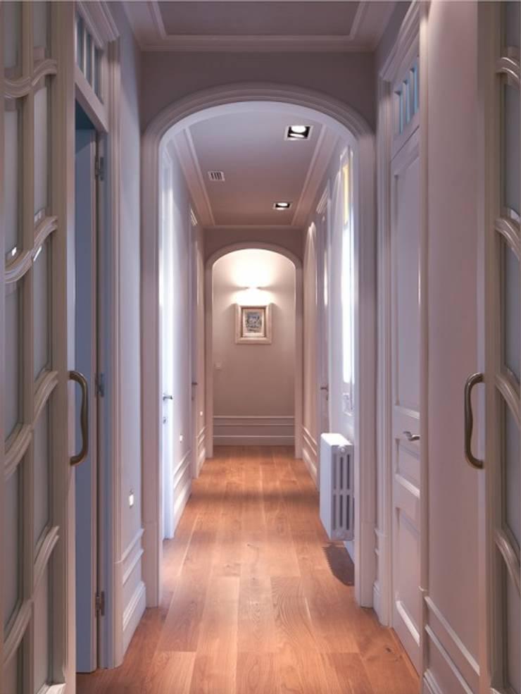 Corridor & hallway by ETNA STUDIO , Modern Wood Wood effect