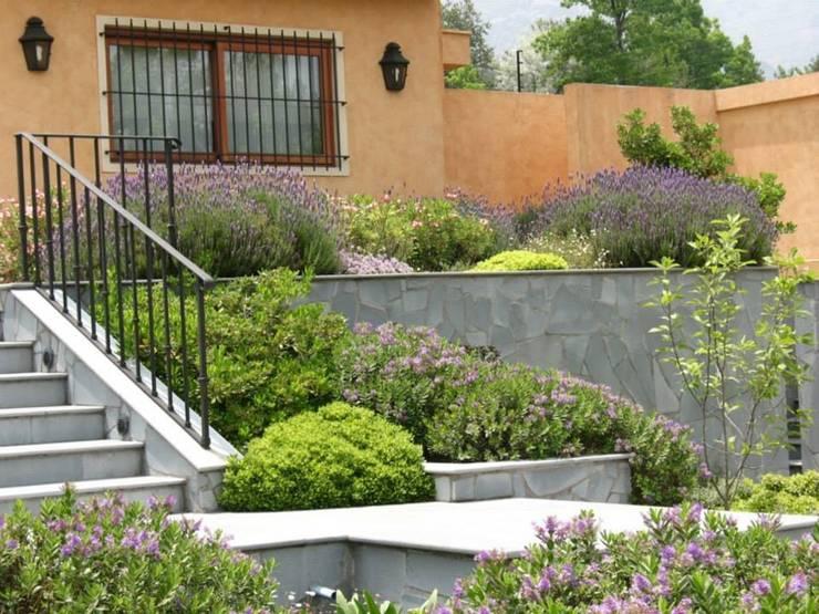 Hermoso antejardín.: Jardines de estilo  por Aliwen Paisajismo