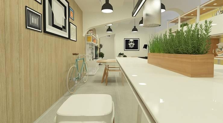 Concurso Casa Cor 2014 –  Diseño Loft 20/20 – 1º Lugar Factura del Trabajo:  de estilo  por ARQ+3