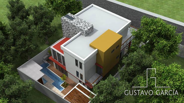 Casa De Sousa: Casas de estilo  por Arq. Gustavo García