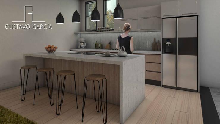 Interiorismo Casa De Sousa: Cocinas de estilo moderno por Arq. Gustavo García