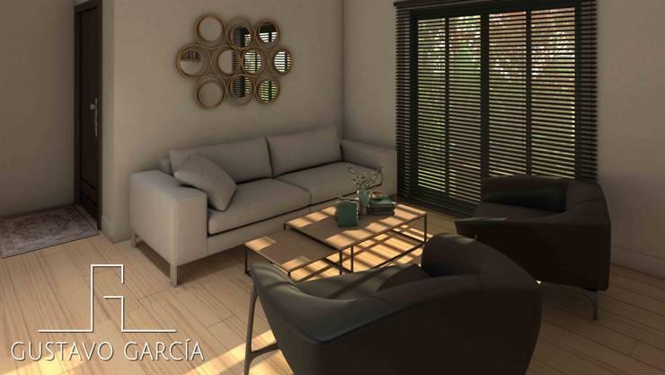 Interiorismo Casa De Sousa: Salas / recibidores de estilo moderno por Arq. Gustavo García