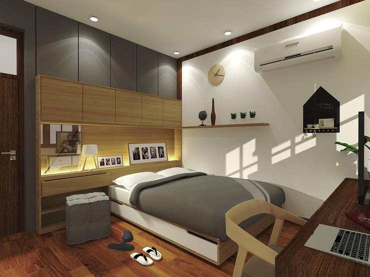 Mr. Teuku Irmasnyah Bedroom Design:  Kamar Tidur by SEKALA Studio