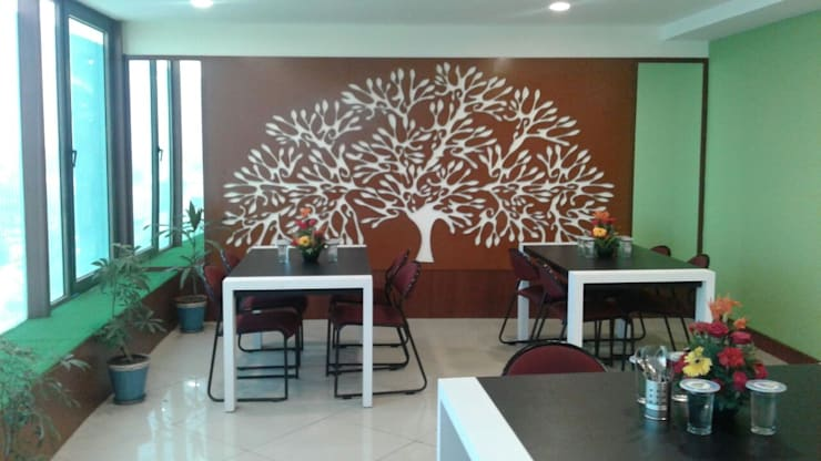 Cafeteria Design for HPCL at Scope Minar Office: modern  by HOME CITY LIFESTYLE,Modern MDF