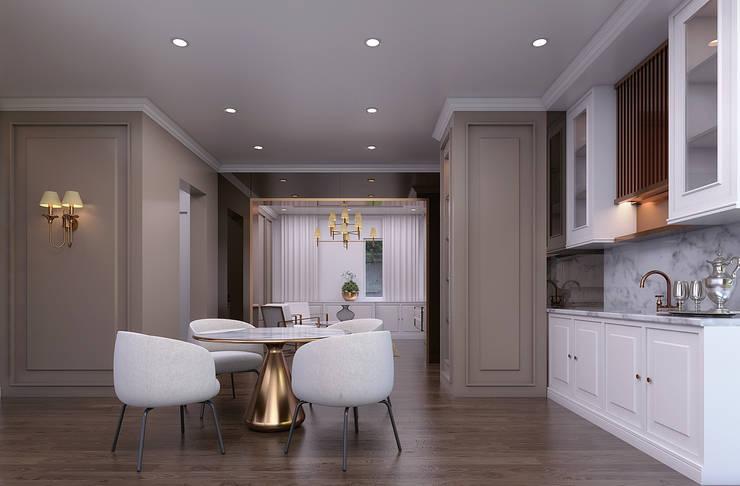 Luxury modern home : modern Kitchen by Magna Mulia Mandiri