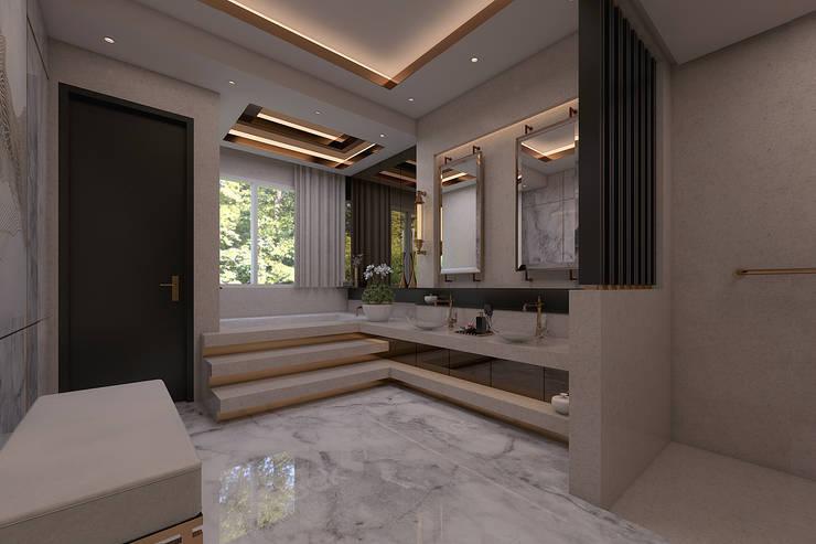 Luxury modern home : modern Bathroom by Magna Mulia Mandiri