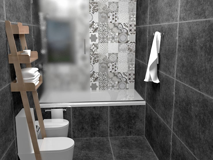 Bathroom by JACH, Minimalist Tiles