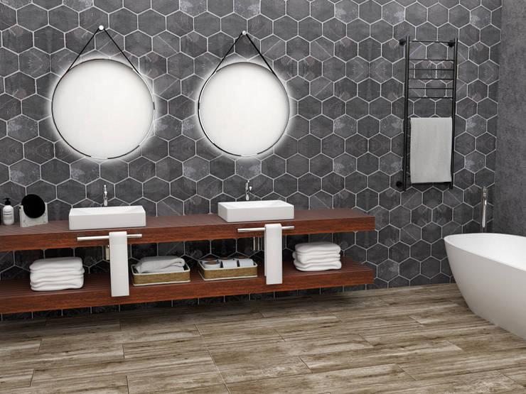 Área Lavabo: Baños de estilo  por JACH