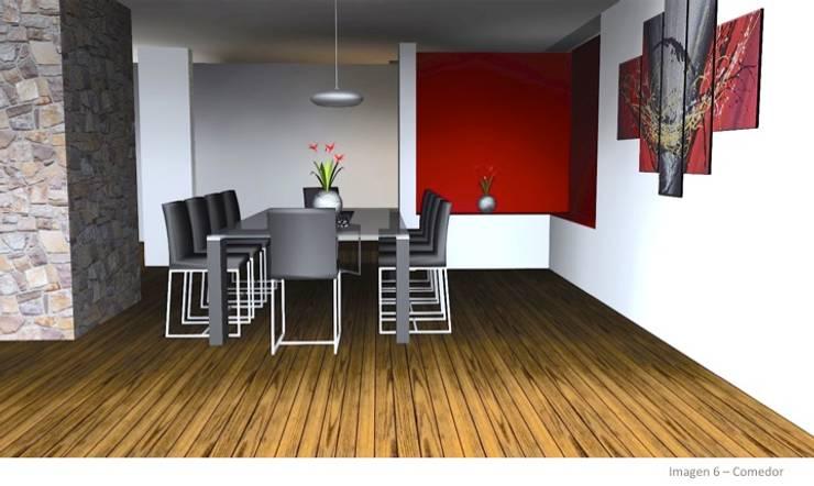 CASA ROSAS : Comedores de estilo moderno por Incubar: Arquitectura & Construcción