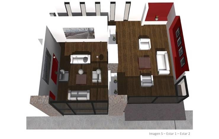 CASA ROSAS : Livings de estilo moderno por Incubar: Arquitectura & Construcción