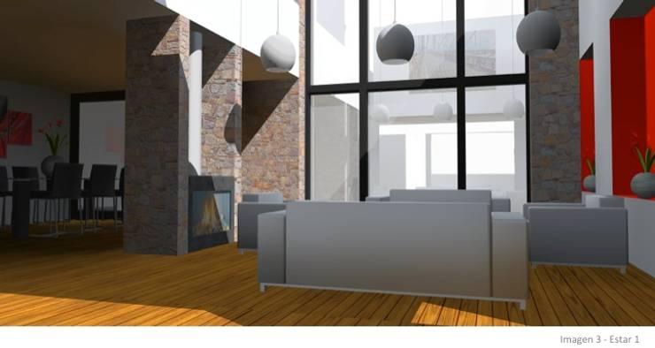 CASA ROSAS : Livings de estilo  por Incubar: Arquitectura & Construcción