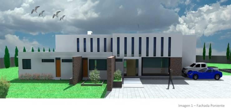 CASA ROSAS : Parcelas de agrado de estilo  por Incubar: Arquitectura & Construcción