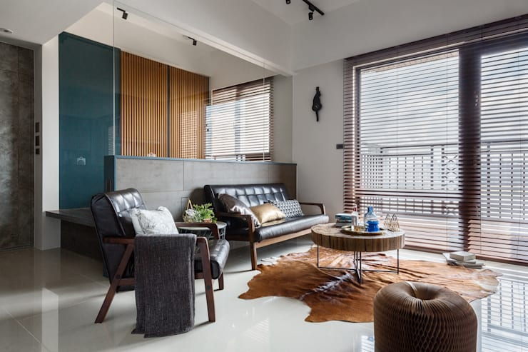 living room:  客廳 by DYD INTERIOR大漾帝國際室內裝修有限公司