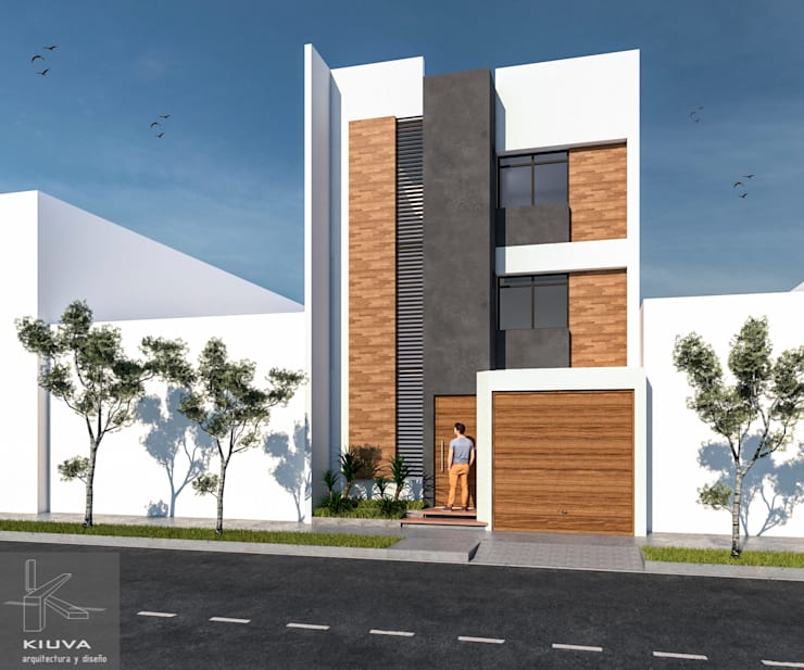 Fachada principal: Anexos de estilo  por Kiuva arquitectura y diseño