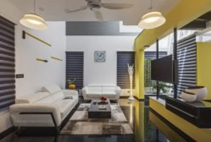 The Daylight Home | Luxurious 40×60 West Facing House Plans Design: modern Living room by aaaa