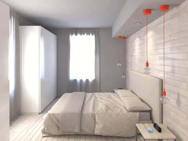 臥室 by 3d-arch, 現代風