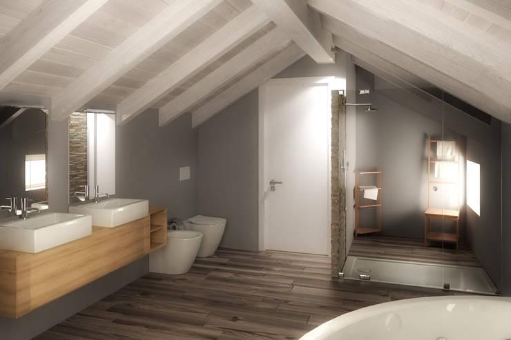 浴室 by 3d-arch, 現代風