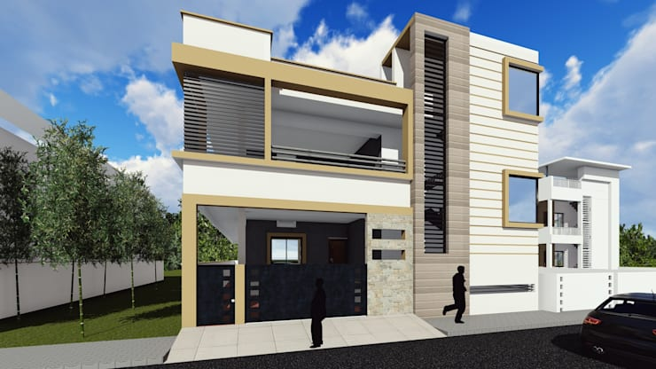 """3D Elevation: {:asian=>""""asian"""", :classic=>""""classic"""", :colonial=>""""colonial"""", :country=>""""country"""", :eclectic=>""""eclectic"""", :industrial=>""""industrial"""", :mediterranean=>""""mediterranean"""", :minimalist=>""""minimalist"""", :modern=>""""modern"""", :rustic=>""""rustic"""", :scandinavian=>""""scandinavian"""", :tropical=>""""tropical""""}  by Cfolios Design And Construction Solutions Pvt Ltd,"""