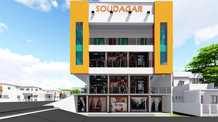 Side View:   by Cfolios Design And Construction Solutions Pvt Ltd