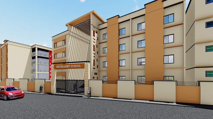 Isometric Elevation:   by Cfolios Design And Construction Solutions Pvt Ltd,