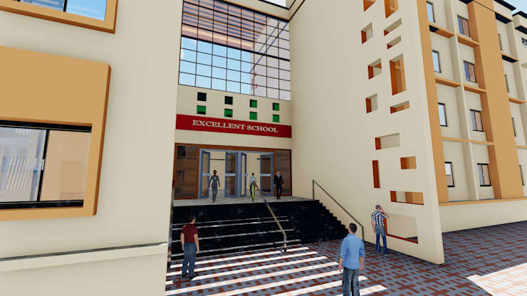Entrance:   by Cfolios Design And Construction Solutions Pvt Ltd,