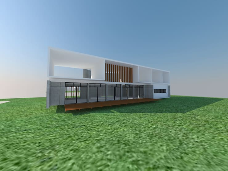 CASA FC :  de estilo  por Incubar: Arquitectura & Construcción