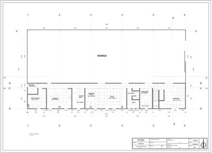 ANTEPROYECTO SENSORICA:  de estilo  por Incubar: Arquitectura & Construcción