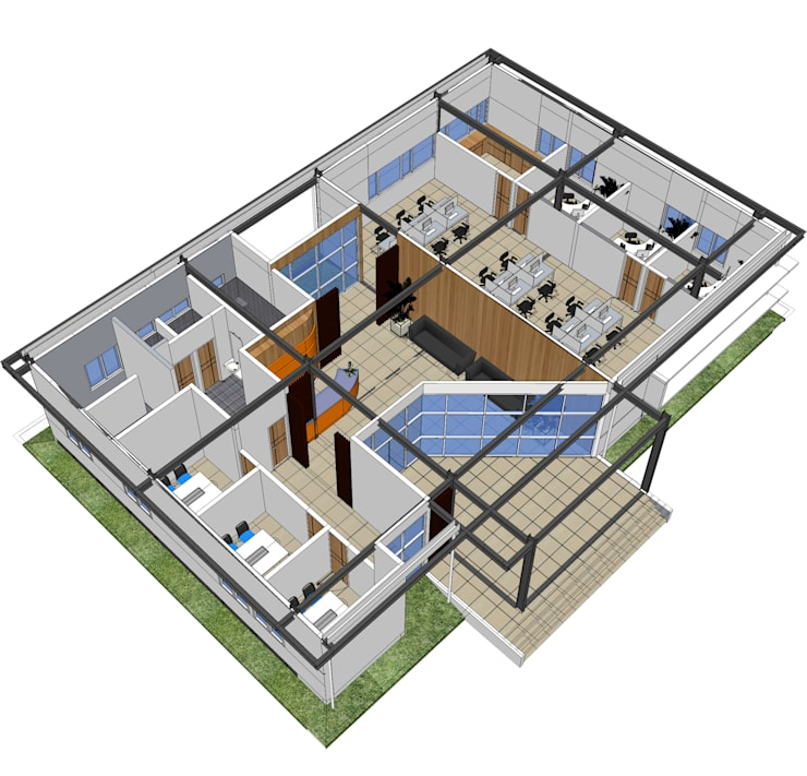 JLB office:   by GUBAH RUANG studio