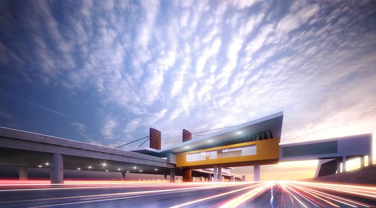 KARANG TENGAH toll gate:   by GUBAH RUANG studio
