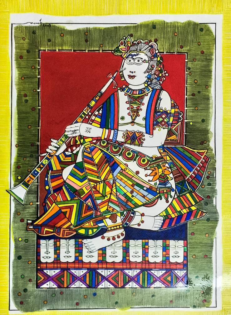 Indian musician: asian  by Indian Art Ideas,Asian