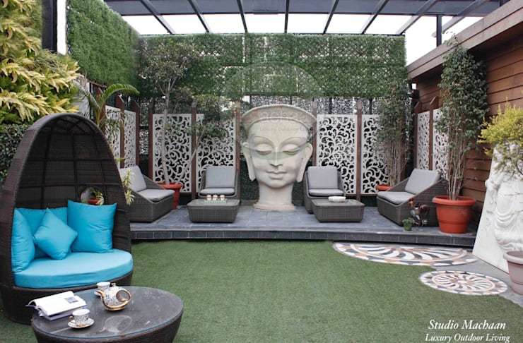 Terrace Garden Design:  Terrace by Studio Machaan ,Modern