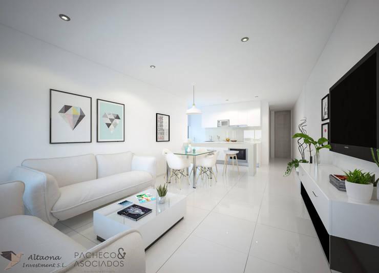 Salas / recibidores de estilo  por Pacheco & Asociados