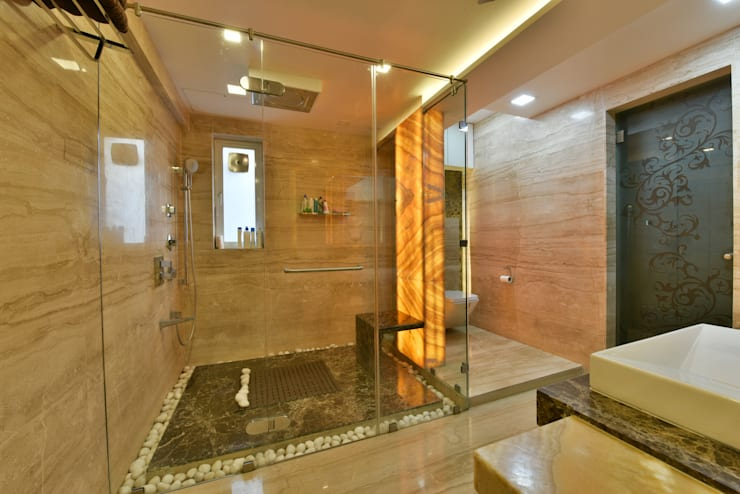 Mr. Doshi's Residence:  Bathroom by Banaji & Associates