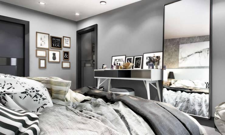 VERO CONCEPT MİMARLIK – Kalafatoğlu Villa İç Mekan: modern tarz Yatak Odası